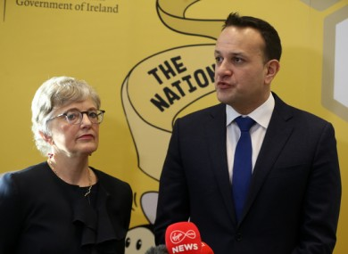 Children's Minister Katherine Zappone and Taoiseach Leo Varadkar.