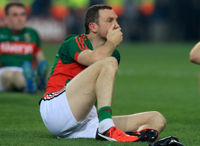 Keith Higgins, dejected at the end of the 2016 All-Ireland final replay defeat to Dublin.