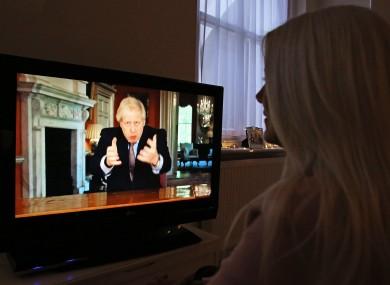 Boris Johnson made a pre-recorded address to the UK last night.