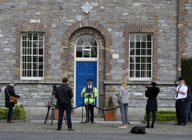 Garda Commissioner Drew Harris during a press conference last week outside Garda Headquarters.