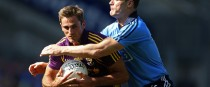 Brian Malone in action for Wexford against Dublin's Diarmuid Connolly.