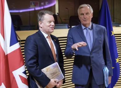 David Frost and Michel Barnier.