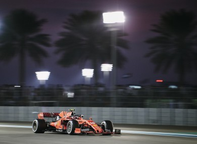 A general view of the 2019 Abu Dhabi F1 Grand Prix race.