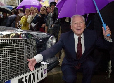 Gay Byrne on Henry Street at the announcement of the show.