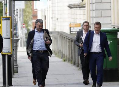 The Fianna Fail negotiating team.