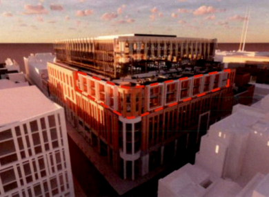 The development would go literally above the current shopping centre site.