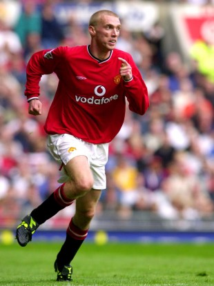Chadwick in action for Man United in 2001.