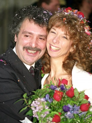File photo from 1991 of actor Michael Angelis on his wedding day to his then-wife actress Helen Worth.