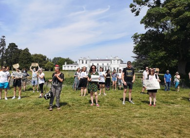 Protest in the Phoenix Park this afternoon.