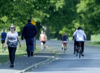 People exercising in Phoenix Park last week.