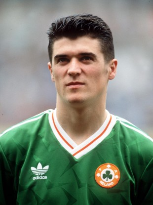 Roy Keane pictured in May 1991 on his Ireland debut, a year after leaving Cobh Ramblers.
