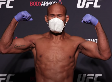 Ronaldo 'Jacare' Souza at the weigh-in.