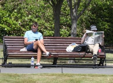 Members of the public in St Stephen's Green in Dublin last month.