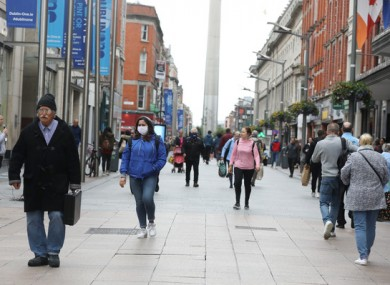 People on Dublin's Henry Street last month as shops reopened their doors.