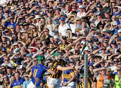 Fans watch on during the 2013 qualifier clash in Nowlan Park.