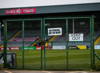 A view of Dalymount Park.