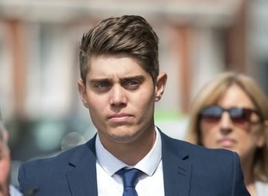 Alex Hepburn arriving in court last year.