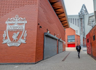 Anfield, where the Liverpool women's team rarely play.