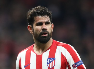 Costa returned to Atletico from Chelsea in 2017.