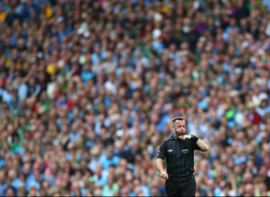 Top referee David Gough.