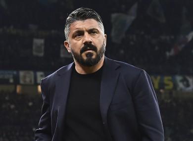 Napoli manager Gennaro Gattuso.