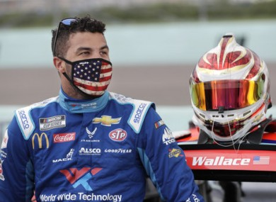 Driver Bubba Wallace earlier this month.