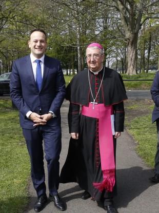 Archbishop Diarmuid Martin pictured here with Taoiseach Leo Varadkar.