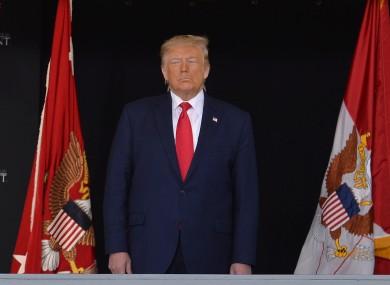 Donald Trump (file pic).