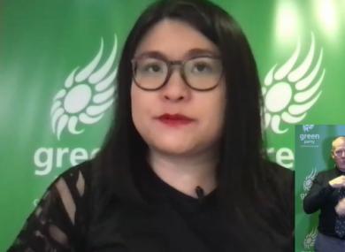 Hazel Chu chairing the online debate.