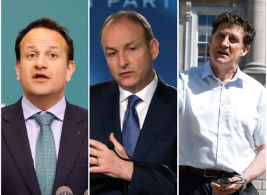 Leo Varadkar, Micheál Martin and Eamon Ryan.