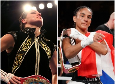 Katie Taylor (L) and Amanda Serrano (R) have been on a collision course for the guts of four years.