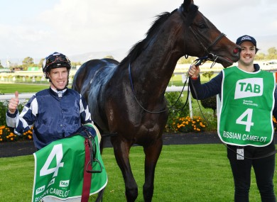 John Allen with Russian Camelot after victory in Adelaide