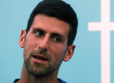 Novak Djokovic (file pic).