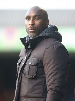 Sol Campbell at Southend United.