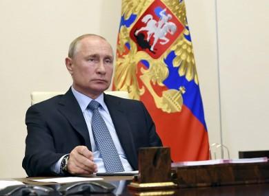 Russian president Vladimir Putin last week.