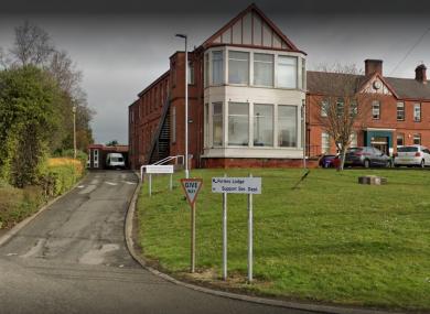 File. Outside of Whiteabbey Hospital in Newtownabbey.