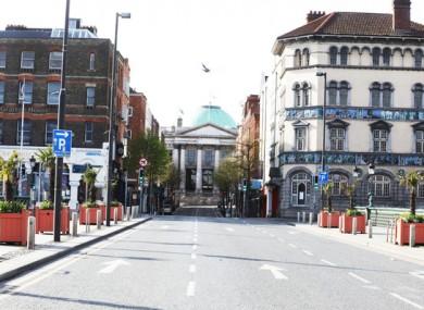 City Hall on Parliament Street in Dublin.