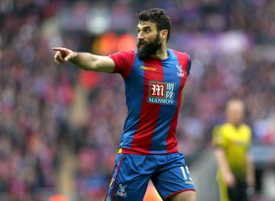 Mile Jedinak pictured during his time at Crystal Palace.