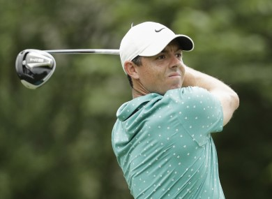 McIlroy during yesterday's difficult round.