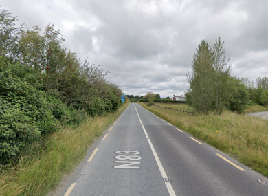 A section of the N83 near Ballhaunis.