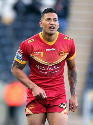 Israel Folau of Catalan Dragons.