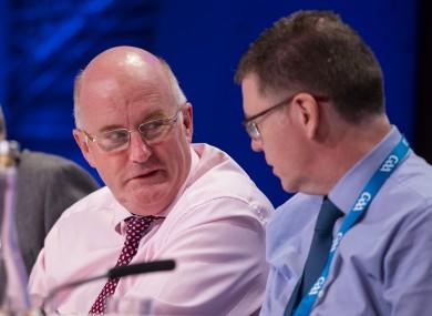 Sanctions: Horan and Ryan (file photo).