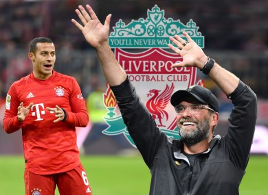 Thiago Alcantara has been strongly linked with a move to Liverpool.