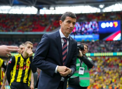 Javi Gracia pictured after Watford's defeat to Manchester City in the 2019 FA Cup final.