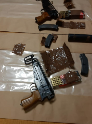 An image of the weapons seized by gardai.