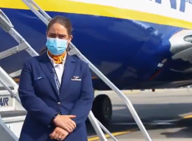 Ryanair have released a video of its new safety precautions.