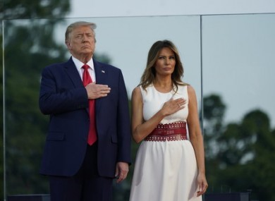 President Donald Trump and first lady Melania Trump participate in Fourth of July celebrations in Washington.