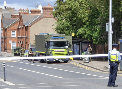 The scene of the incident this afternoon