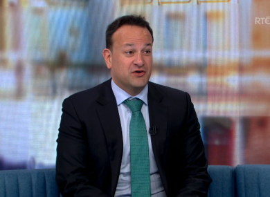 Tánaiste Leo Varadkar on RTÉ's The Week In Politics