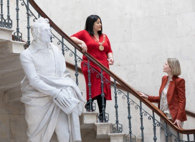 Lord Mayor Hazel Chu and Sculpture Dublin programme director Karen Downey at the launch of the initiative today
